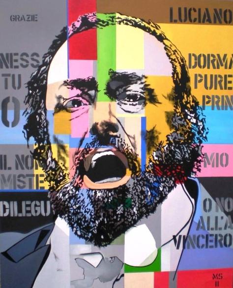 Martin Georg Sonnleitner, Pavarotti, 2011, 100 x 80 cm, Öl-Acryl-Leinwand, PoP-Art, im [AOS] Magazine