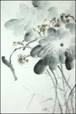 Yang qiaoling, Ink on Xuan Paper, Lotus6, Size (68x45cm)2015