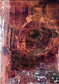 Sascha Weinberg: Fragilitas1, 50x70x1,8cm, Acryl auf Leinwand, Mischtechnik, 2015 | Art On Screen - [AOS] Magazine