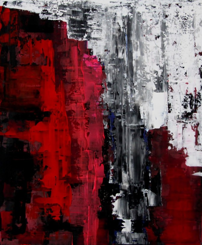 Sascha Weinberg: O. Titel, 50x60,1,8cm, Acryl auf Leinwand, Wischtechnik, 2009   Art On Screen - [AOS] Magazine