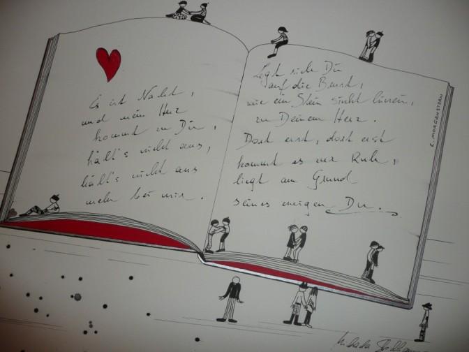 Michaela Stockhammer. Tinte, Acryl. 30x 40 cm. Tit. Ein Liebesgedicht von Morgenstern... 2013   Art On Screen - [AOS] Magazine