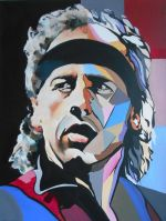 Martin G. Sonnleitner: Mark Knopfler, 60x50 cm, Öl/Acryl-Leinwand, 2015 | Art On Screen - [AOS] Magazine - NEWS