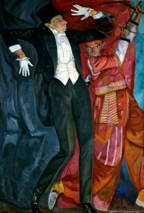 Boris Grigorjew, Porträt von Wsewolod Meyerhold, 1916, St. Petersburg, Staatliches Russisches Museum