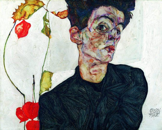 Egon Schiele – Selbstbildnis, 1912 – Österreichische Moderne